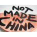 NOT MADE IN CHINA PLATE #16
