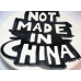 NOT MADE IN CHINA PLATE #18